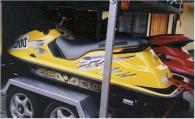 1999 Seadoo SPX 800cc. Yellow and black.