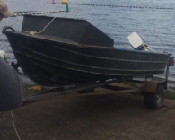 12 Foot Green Camo Aluminium Dinghy