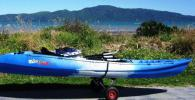 "Blue and White ""Feel Free"" 2 Person Kayak with Paddles"